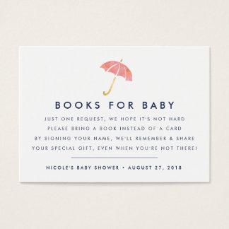 baby shower book request insert business cards templates zazzle