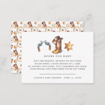 Book Request | Cowboy Country Western Enclosure Card