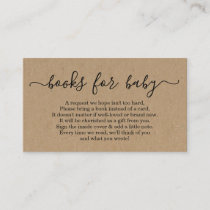 Book Request for Baby Shower Invitation - Rustic