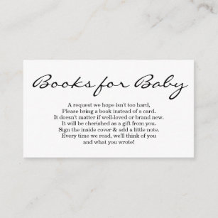 Book Request For Baby Shower Invitation