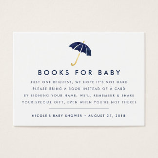 Book Request | Navy Baby Shower Insert Card