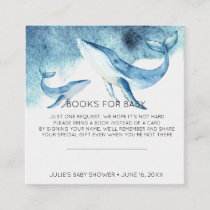 Book Request   Watercolor Whale Baby Shower Insert