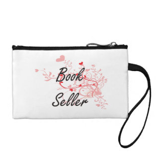 Book Seller Artistic Job Design with Hearts Change Purse
