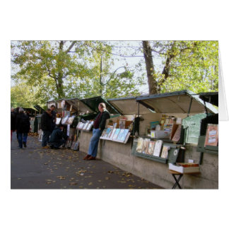 Book Sellers Along the Seine Card
