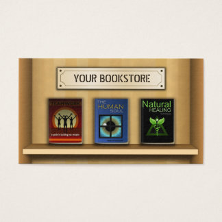 Book Shelf Bookstore Book Store Business Cards