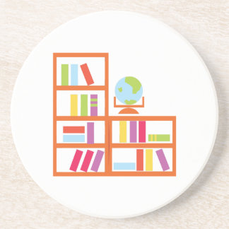 Book Shelf Beverage Coaster