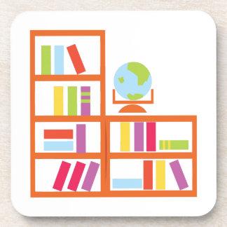 Book Shelf Drink Coaster