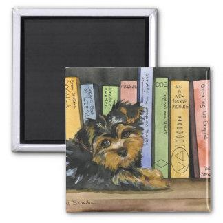 Book Shelf Cutie 2 Inch Square Magnet