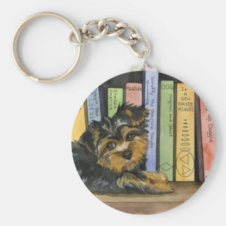 Book Shelf Cutie Basic Round Button Keychain