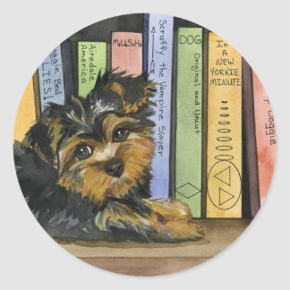 Book Shelf Cutie Classic Round Sticker