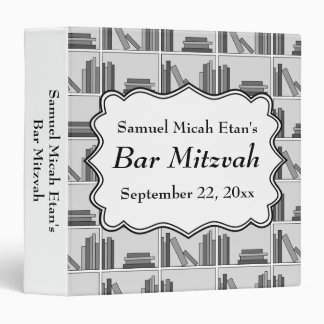 Book Shelf Design Bar Mitzvah 3 Ring Binder