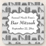Book Shelf Design Bar Mitzvah Coaster