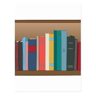 Book Shelf Postcard