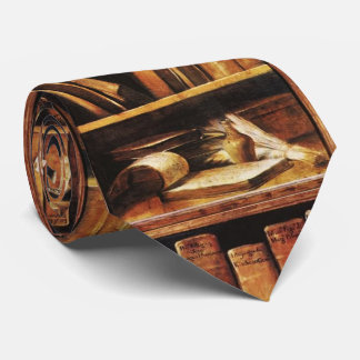 Book Shelves Neck Tie