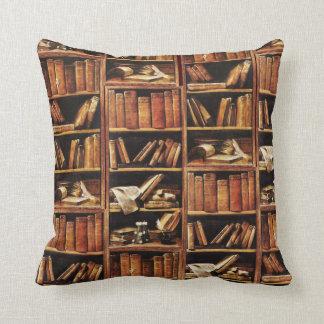 Book Shelves Throw Pillow