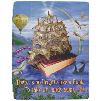 Book Ship Ocean Scene with Emily Dickinson Quote iPad Smart Cover