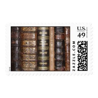 Book spine postage