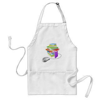 Book stack computer mouse apron