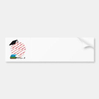 Book Stack w/Cap & Diploma Bumper Stickers