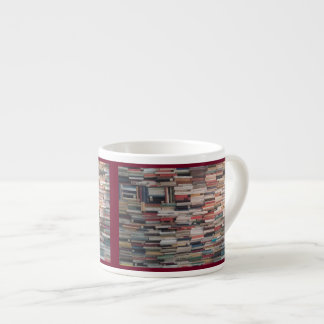 Book Stacks Piled Up Tightly Wedged Together Espresso Cup