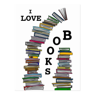 Book Stacks Postcard