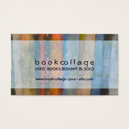 Impressionist Book Collage Book Shop Business Cards