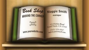 Bookstore store business cards zazzle book store book shelf bookstore business cards reheart Gallery