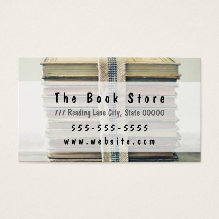 Stack of Books Book Shop Business Cards Template