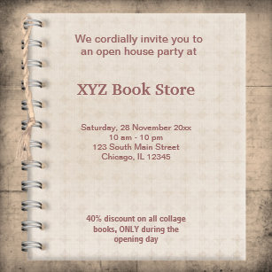 Store opening invitations announcements zazzle book store celebration card stopboris Images