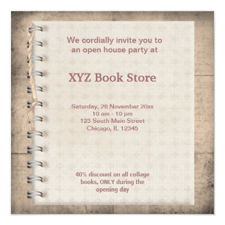 Store opening invitations announcements zazzle book store celebration card stopboris Choice Image