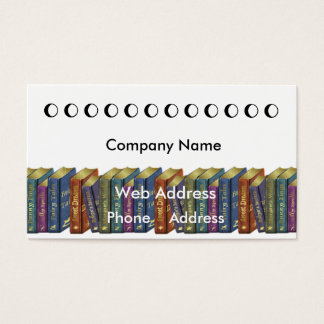 Book store Punch card Business Card