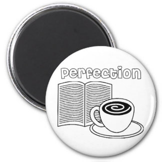 Book & Tea Perfection 2 Inch Round Magnet