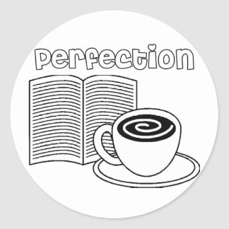 Book & Tea Perfection Classic Round Sticker