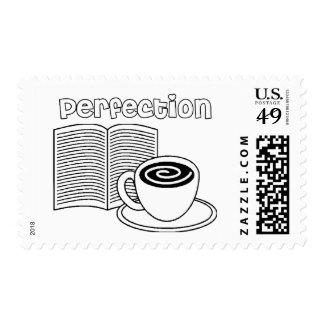 Book & Tea Perfection Postage Stamp