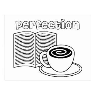 Book & Tea Perfection Postcard