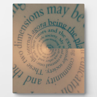 Book text swirl plaque