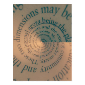 Book text swirl postcard