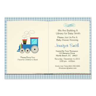 Book Theme Baby Shower Invitation