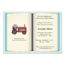 Book Theme Baby Shower Invitation (Boy)