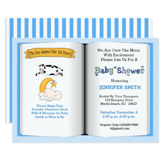 Book Theme Baby Shower Invitation (Boy)