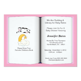 Book Theme Baby Shower Invitation (girl)