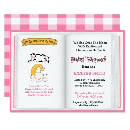 Book theme baby shower invitation girl zazzle book theme baby shower invitation girl filmwisefo