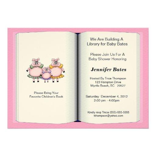 theme baby shower invitation girl 5 x 7 invitation card z