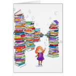 Book Tower Greeting Card