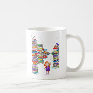 Book Tower Classic White Coffee Mug
