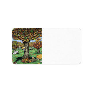 Book Tree Address Labels