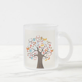Book Tree frosted mug