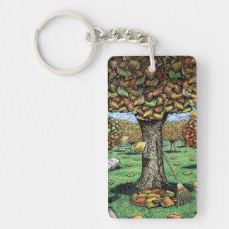 Book Tree Key Chain