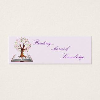 Knowledge business cards templates zazzle book tree knowledge bookmark mini business card reheart Choice Image