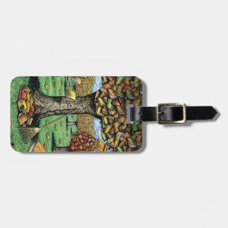 Book Tree Luggage Tag